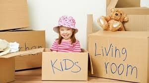Moving from Beverly Hills to North Carolina boxes with children