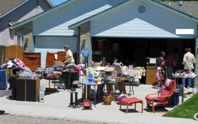 Garage sale before moving
