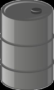 A metal barrel