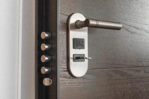 Door handle and secure locking system