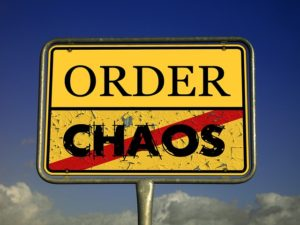 An order over chaos sign.