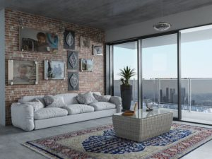 Living room in an apartment.