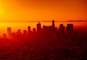 LA in sunset