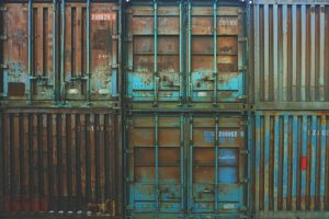 Containers in bad condition