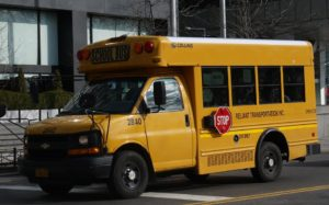 close up of a school bus for Special Needs and Learning Disabilities Schools