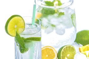 Water with limes.