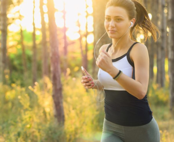 A woman running - Exercise and Eating Healthy
