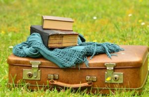 Suitcases and book.