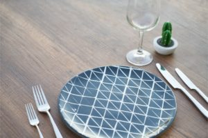 kitchenware at a table
