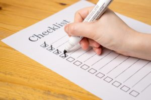 Checklist - make a checklist to pack for a move in one day