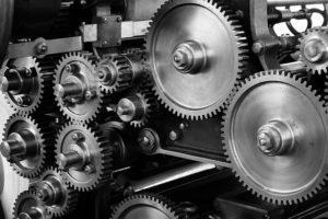 gears on the machine