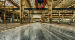 empty production hall