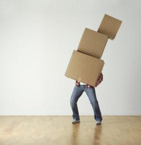 Man carrying the boxes