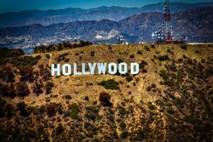 A Hollywood sign