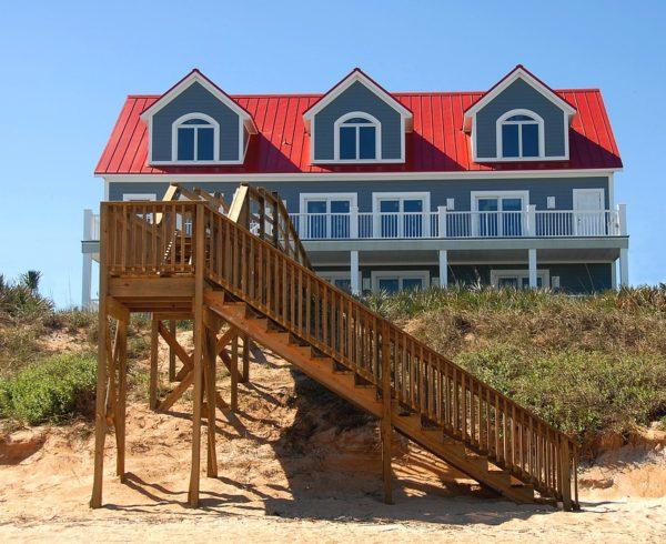 A beach house in Florida.