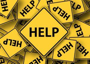 A help sign.