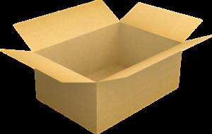 An open cardboard box.