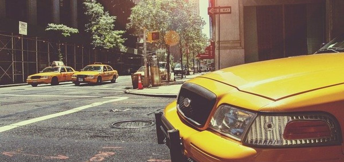 Cabs on the streets of New York.