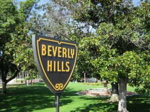 Beverly Hills sign.