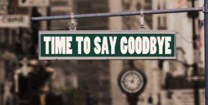 Say Goodbye Sign
