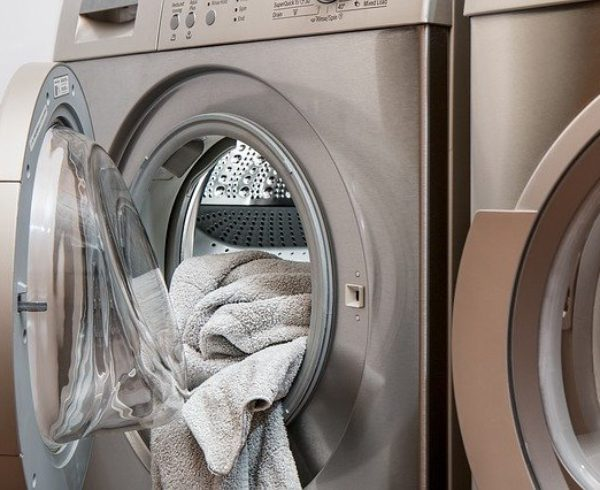 Clean and move a washer & dryer.