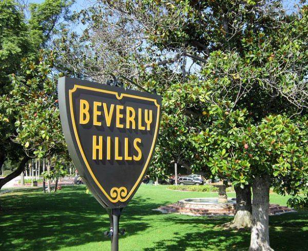 A Beverly Hills sign.