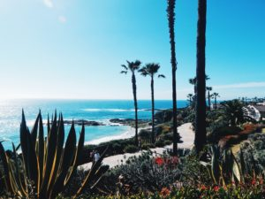 Beach front in California