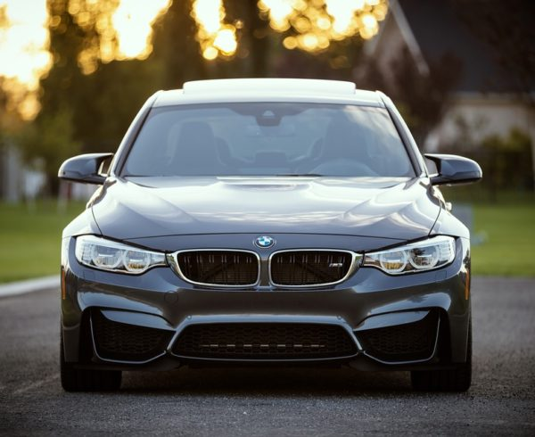 A BMW car you need to study auto transportation guidelines for.