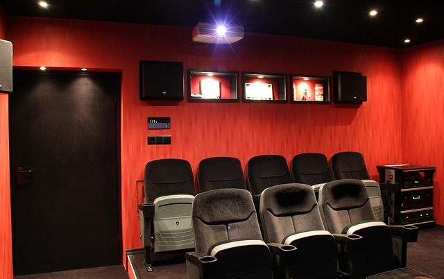Home theater after you pack and move a surround system.
