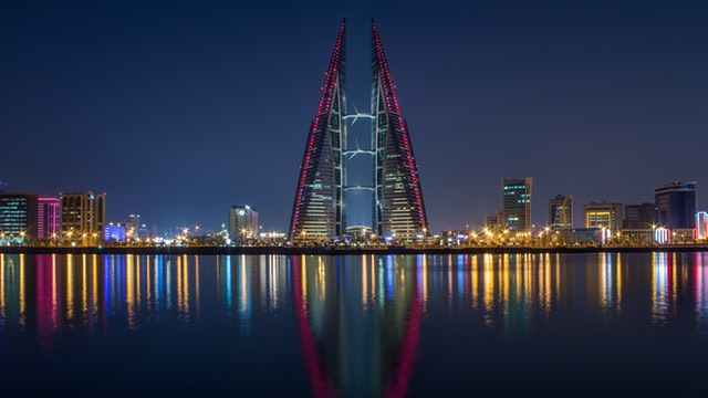 The trading center in Bahrain.