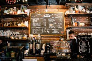 a coffee shop interior