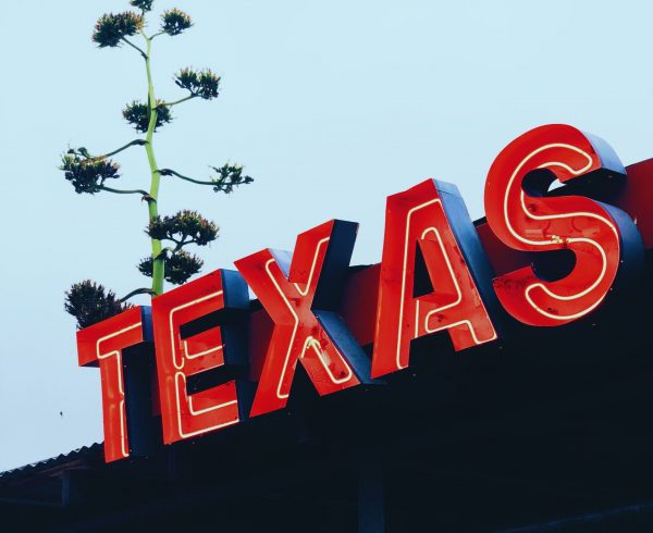 Texas light sign.
