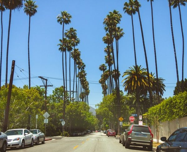 A street in Beverly Hills