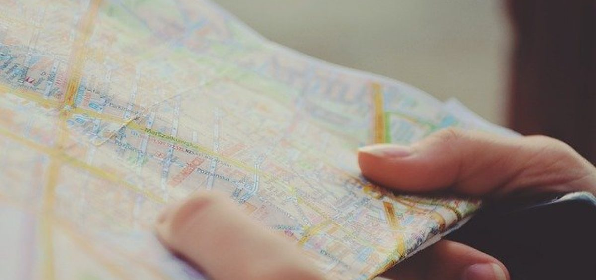 a man holding a map