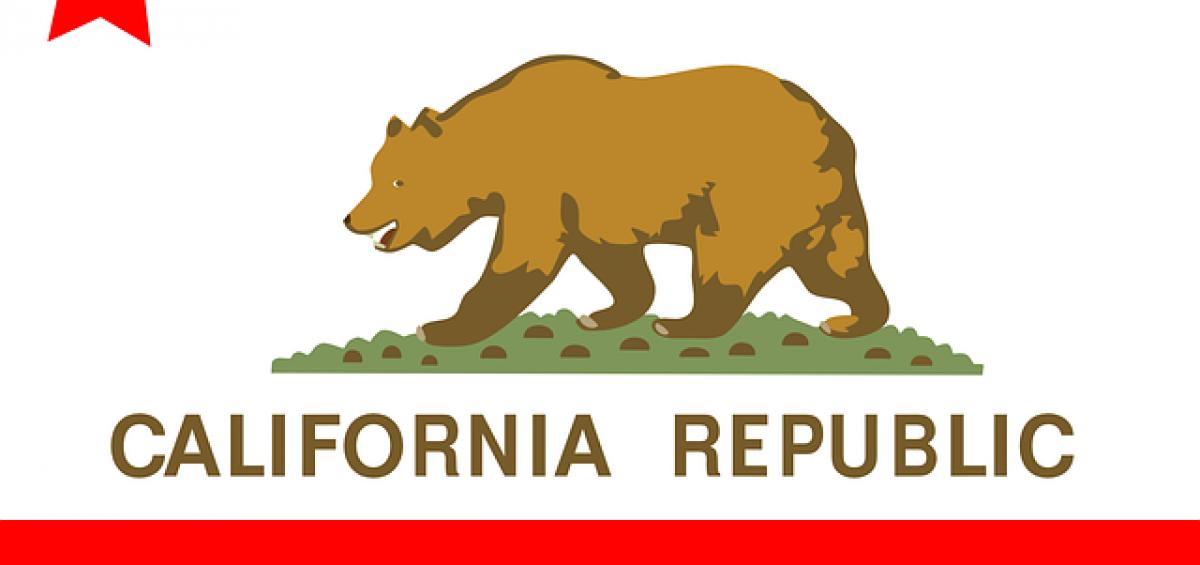 A flag of California.
