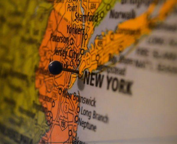 east coast map, NYC