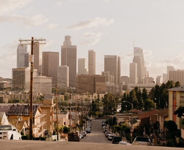 Skyline of LA that makes you think about how to get the best deal for a short distance move in LA